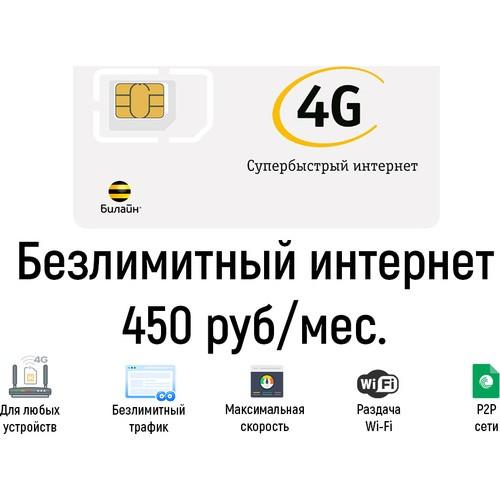 Безлимитный интернет Билайн 450
