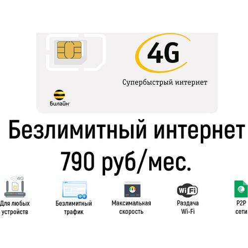 Безлимитный интернет Билайн 790