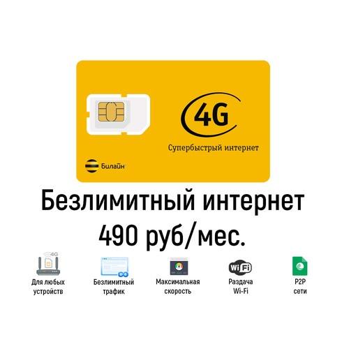 Безлимитный интернет Билайн 490
